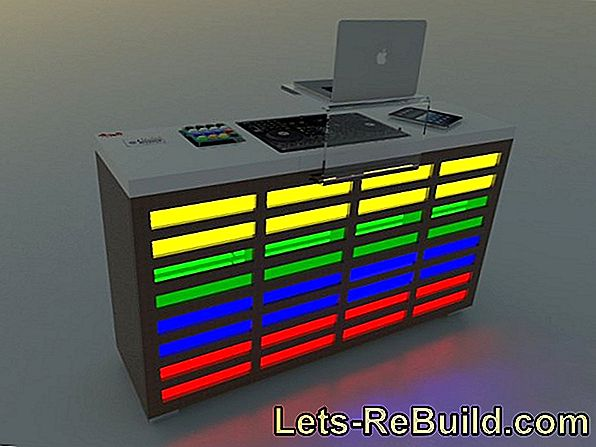 Build a DJ table yourself - that's the easiest way