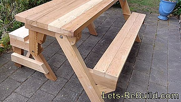 Build Folding Table Yourself » Instructions In 4 Steps