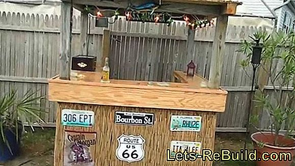 Construct a bar table with a handy beer crate