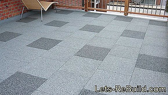 Lay Terrace Tiles Yourself - Instructions In 4 Steps