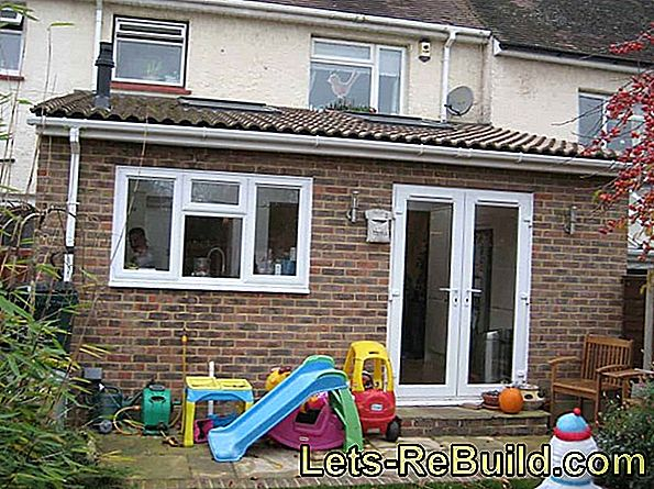 The extension at the terraced house