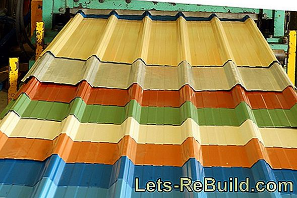 A trapezoidal sheet is also suitable as material for the wall cladding
