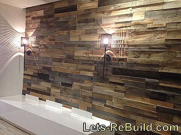 Make wooden wall panels yourself