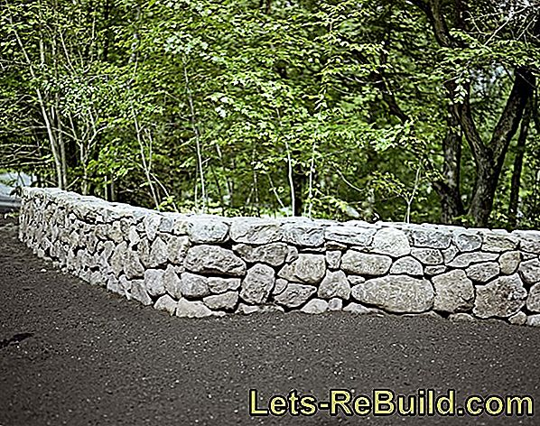 Build natural stone wall