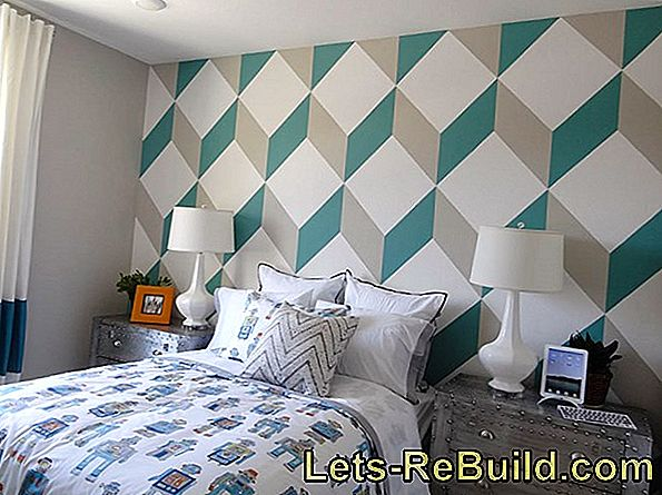 To paint a geometric wall pattern