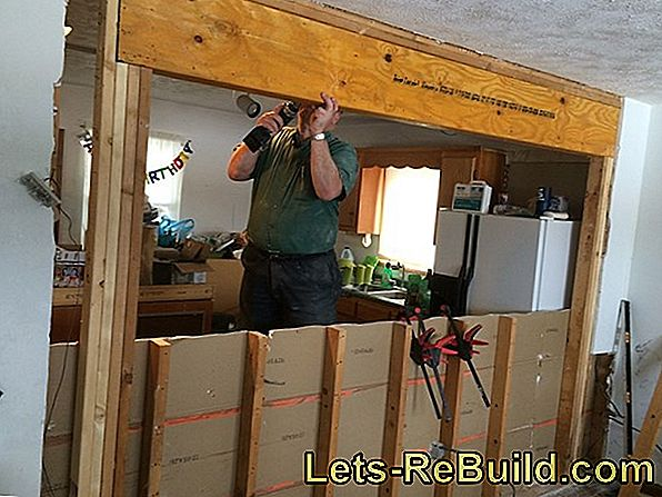 Installing The Wall » How To Set A Wall Afterwards