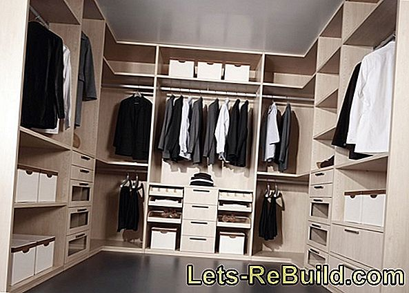 6 Ideas for the walk-in wardrobe