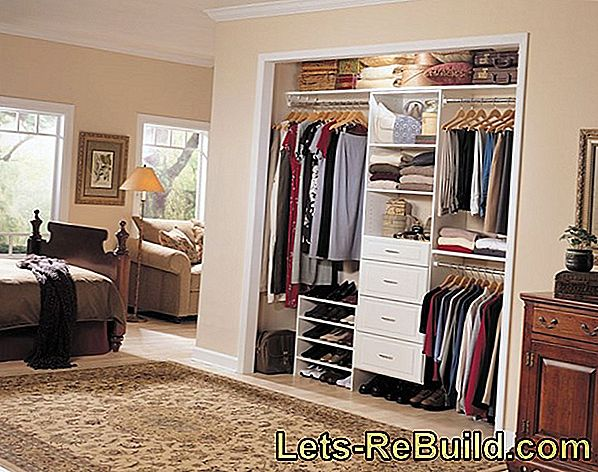 Organize wardrobe & create storage space