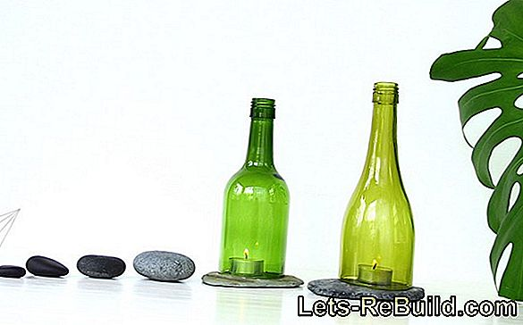 Make a decorative lantern from a wine bottle