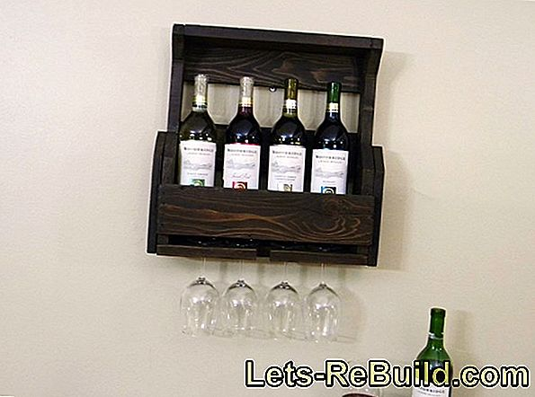 Building a wine rack made of pallets offers itself because of the dimensions