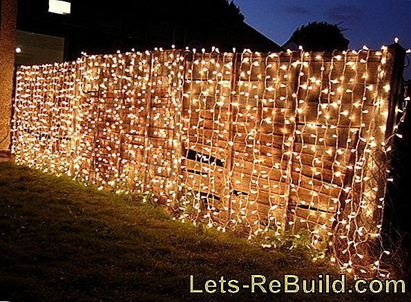 Decorate a chain link fence