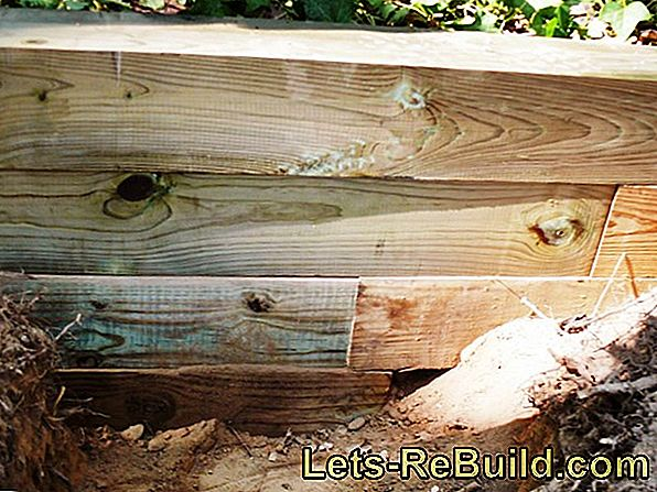 Dress wooden beams with different materials