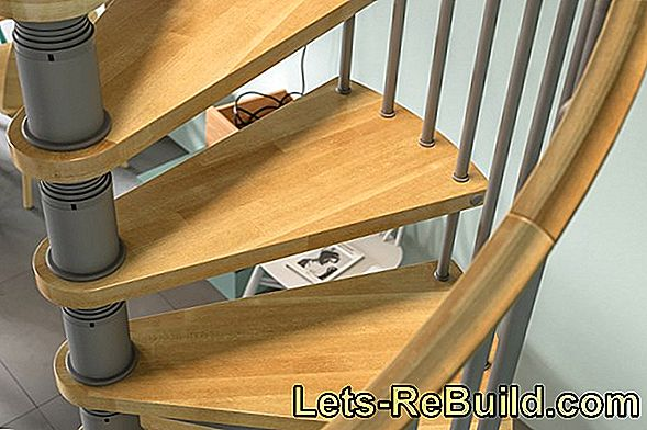 Which type of wood is suitable for a wooden staircase?