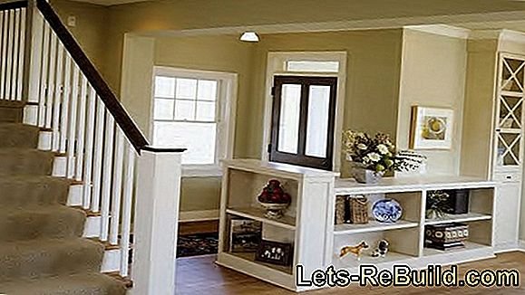 Paint a wooden staircase colored or transparent