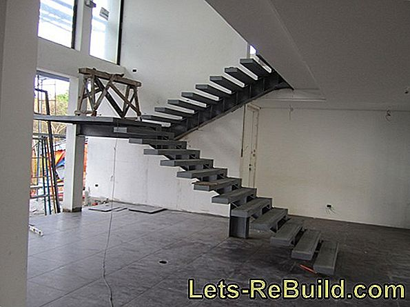 A wooden staircase construction with or without metal components