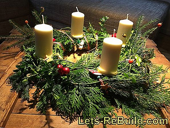 DIY Advent krans i sista minuten