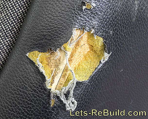 Repair A Hole In The Leather Sofa » Instructions In 4 Steps