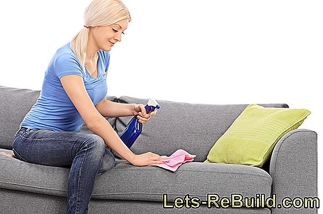 Remove water stains from the sofa