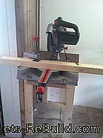 An extendable table for the saw: extendable