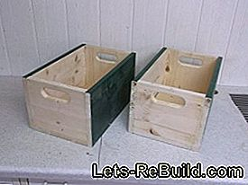 Wooden boxes for more order in the cupboard: holes
