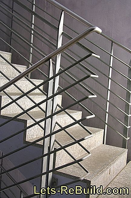 Variants for the staircase of a concrete staircase