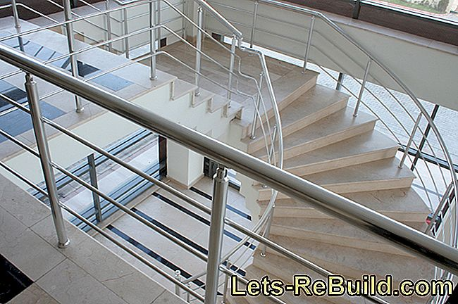 A steel staircase construction for insertion or placement