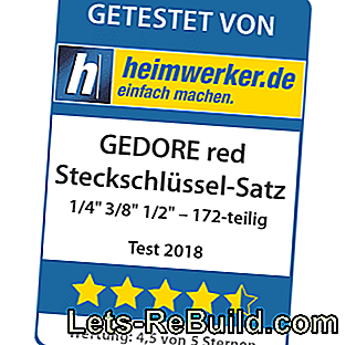 Test socket set with reversible ratchets from GEDORE red: gedore